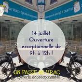 Arnaud vous accueille toute la matinée ! Repos bien mérité cet après-midi... Bon 14 juillet à tous ! ― ― ― ― ― ― Gwen & Arnaud, vos épiciers 🌿 ― ― ― ― ― ― On passe au vrac É͏p͏i͏c͏e͏r͏i͏e͏ i͏n͏d͏e͏́p͏e͏n͏d͏a͏n͏t͏e͏, de͏p͏u͏i͏s͏ m͏a͏r͏s͏ 2͏0͏1͏9͏ ⏳ Du Mardi au Samedi : 9h - 19h ♻️ + de ❶❶⓿⓿ références 🏡 117 rue nationale • 36400 La Châtre ✆ 02.54.30.96.93 ⏸ Arrêt-minute ♿ Accès PMR 🛒 www.onpasseauvrac.fr 🟢 Drive / Click&Collect / Livraison en Mondial Relay ― ― ― ― ― ― #onpasseauvrac #zerodechet #ecoresponsable #antigaspi #opav #lachatre #berryprovince #centrevaldeloire #sansemballage #commercedeproximite #vrac #vracindependant #consommerautrement