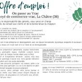 #icicarecrute #offredemploi  ― ― ― ― ― ― Gwen & Arnaud, vos épiciers 🌿 ― ― ― ― ― ― On passe au vrac É͏p͏i͏c͏e͏r͏i͏e͏ i͏n͏d͏e͏́p͏e͏n͏d͏a͏n͏t͏e͏, de͏p͏u͏i͏s͏ m͏a͏r͏s͏ 2͏0͏1͏9͏ ⏳ Du Mardi au Samedi : 9h - 19h ♻️ + de ❶❶⓿⓿ références 🏡 117 rue nationale • 36400 La Châtre ✆ 02.54.30.96.93 ⏸ Arrêt-minute ♿ Accès PMR 🛒 www.onpasseauvrac.fr 🟢 Drive / Click&Collect / Livraison en Mondial Relay ― ― ― ― ― ― #onpasseauvrac #zerodechet #ecoresponsable #antigaspi #opav #lachatre #berryprovince #centrevaldeloire #sansemballage #commercedeproximite #vrac #vracindependant #consommerautrement