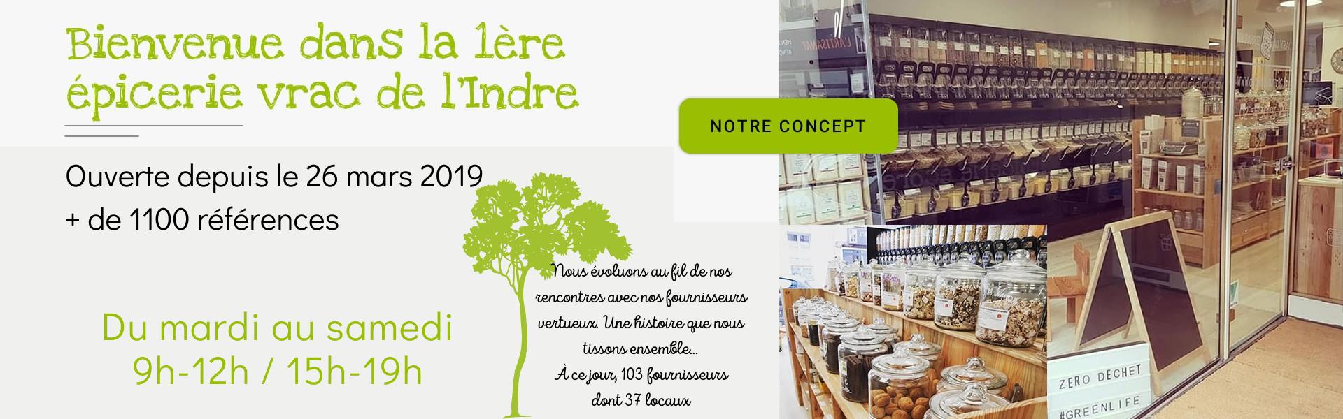 Bienvenue dans la 1ère épicerie vrac de l'Indre